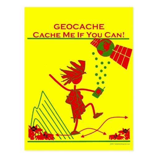 ¡Regalo de Geocache - deposíteme si usted puede! Tarjetas Postales