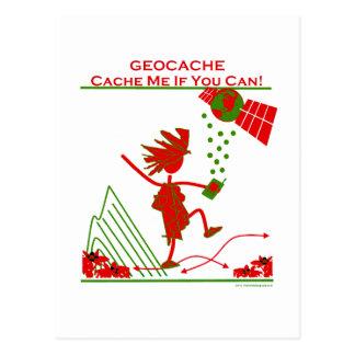 ¡Regalo de Geocache - deposíteme si usted puede! Tarjeta Postal