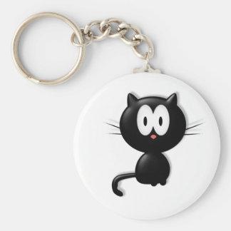 Regalo de Halloween del gato de Scardy del gato ne Llavero Redondo Tipo Pin
