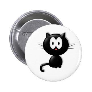 Regalo de Halloween del gato de Scardy del gato ne Pin Redondo 5 Cm