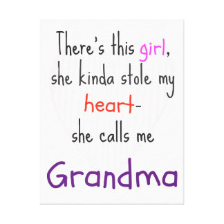 Regalo de la abuela - arte de la lona - citas - re impresiones en lona