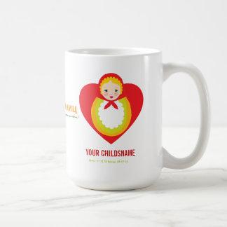 Regalo de la adopción del chica de Matroyshka del  Taza De Café