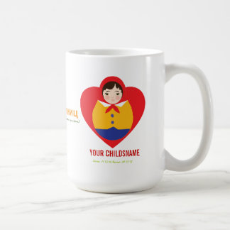Regalo de la adopción del muchacho de Matroyshka d Taza De Café