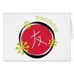 Regalo de la amistad del símbolo del carácter chin felicitaciones