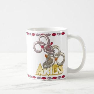 Regalo de la amistad del zodiaco del aries del vir taza de café