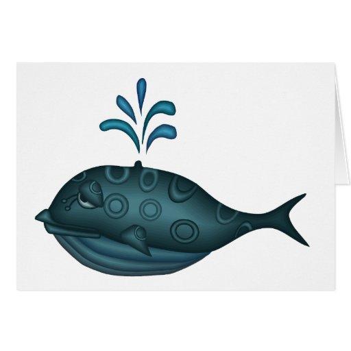 Regalo de la ballena tarjeta de felicitación