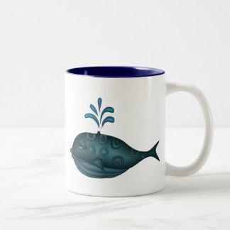 Regalo de la ballena tazas de café