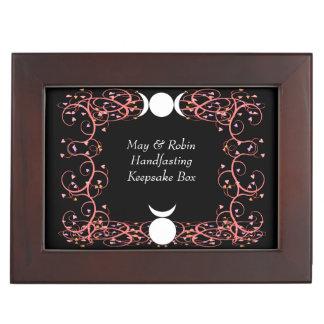 Regalo de la caja del recuerdo de Wiccan Cajas De Recuerdos