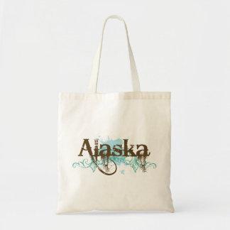 Regalo de la camiseta del Grunge de Alaska de la d Bolsa Tela Barata
