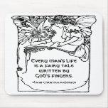 Regalo de la cita de Hans Christian Andersen del c Alfombrillas De Raton