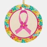 Regalo de la conciencia de la cinta del rosa del c ornamento para arbol de navidad