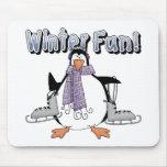 Regalo de la diversión del invierno de los niños tapetes de ratones