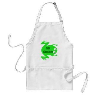 Regalo de la ecología de la rana verde delantal