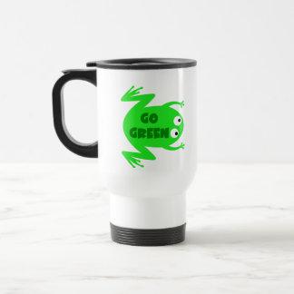 Regalo de la ecología de la rana verde taza de viaje
