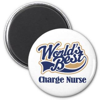 Regalo de la enfermera de carga imán redondo 5 cm