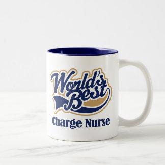 Regalo de la enfermera de carga taza de café de dos colores