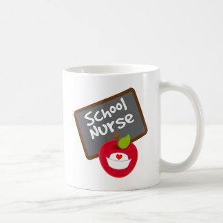 Regalo de la enfermera de la escuela taza básica blanca