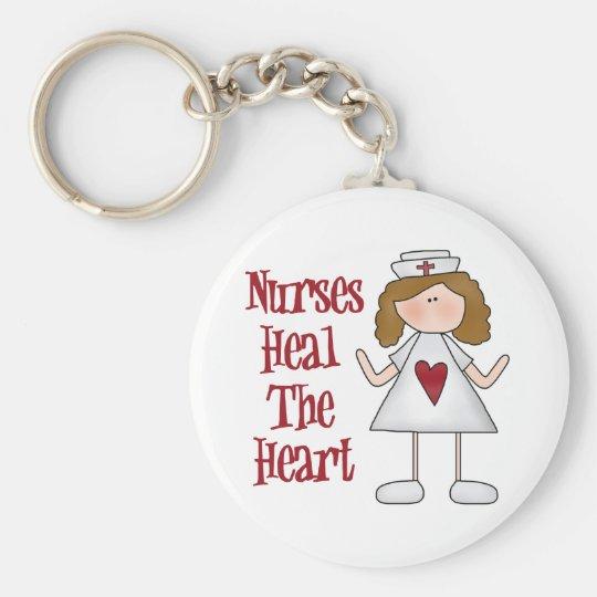 Regalo de la enfermera llavero redondo tipo pin