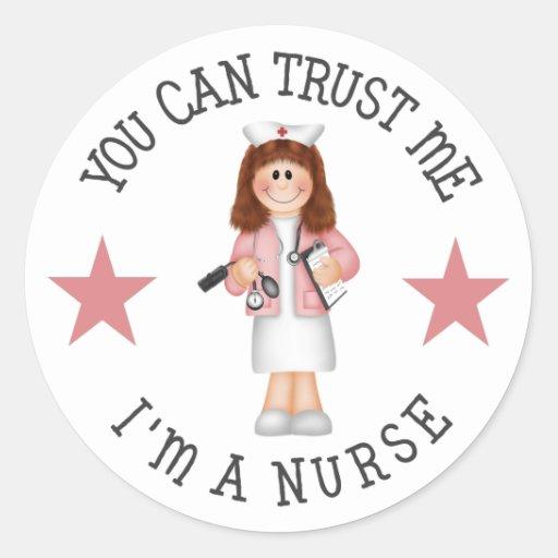 Regalo de la enfermera pegatinas redondas