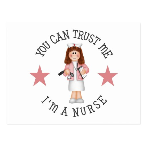 Regalo de la enfermera tarjetas postales