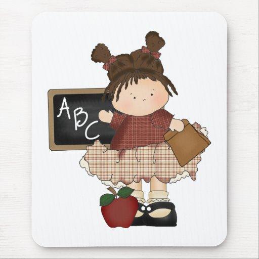 Regalo de la escuela del chica de ABC Alfombrillas De Ratones