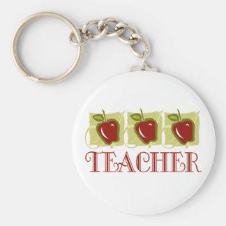 Regalo de la escuela del profesor de Apple Llaveros Personalizados