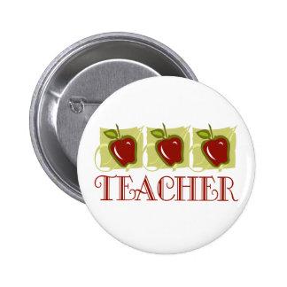 Regalo de la escuela del profesor de Apple Pin Redondo De 2 Pulgadas
