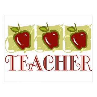 Regalo de la escuela del profesor de Apple Postales