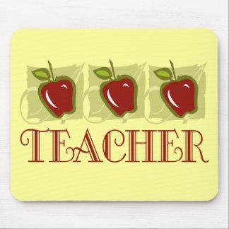 Regalo de la escuela del profesor de Apple Tapetes De Ratón