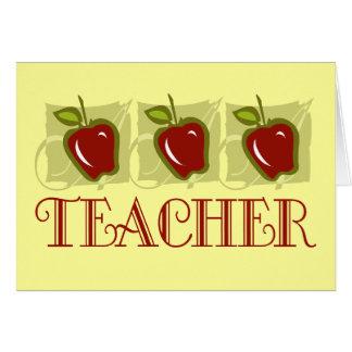 Regalo de la escuela del profesor de Apple Tarjeta Pequeña