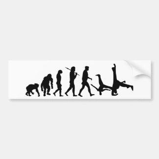 Regalo de la evolución de la danza de los artes ma pegatina para auto