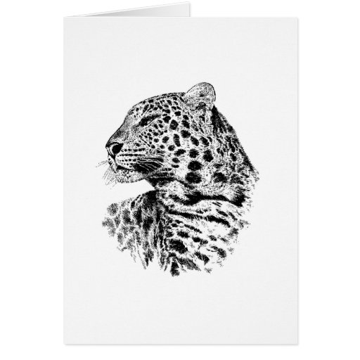 Regalo de la fauna del leopardo tarjeta de felicitación
