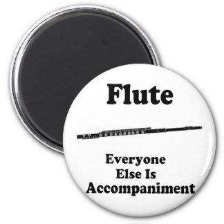 Regalo de la flauta imán redondo 5 cm