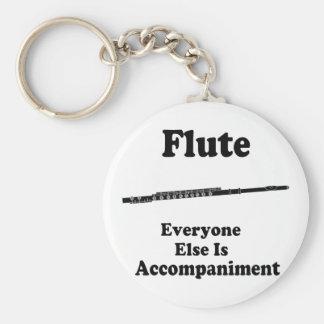 Regalo de la flauta llavero redondo tipo pin