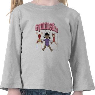 Regalo de la gimnasia de los niños camiseta