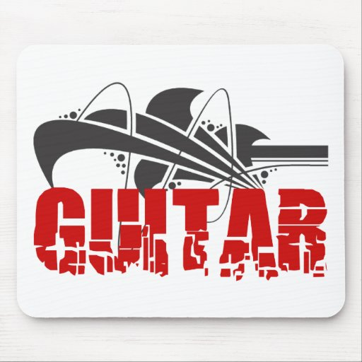 Regalo de la guitarra alfombrilla de ratones