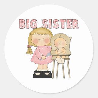 Regalo de la hermana grande pegatina redonda