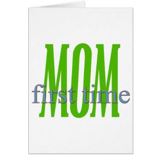 Regalo de la mamá de la primera vez tarjeta de felicitación
