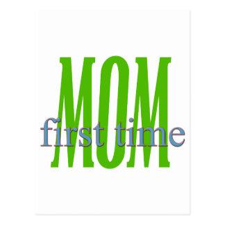 Regalo de la mamá de la primera vez tarjetas postales