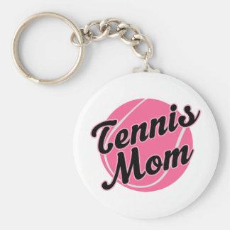Regalo de la mamá del tenis llavero redondo tipo pin
