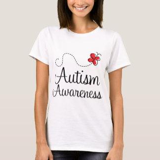 Regalo de la mariposa de la conciencia del autismo playera