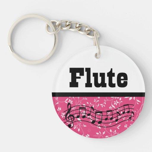 Regalo de la música de la flauta llaveros