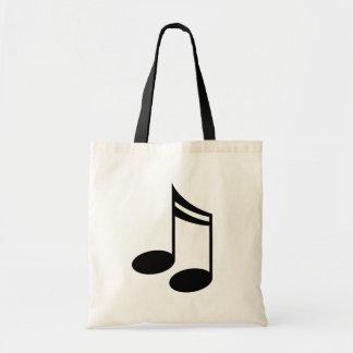 Regalo de la música de las notas musicales bolsa tela barata