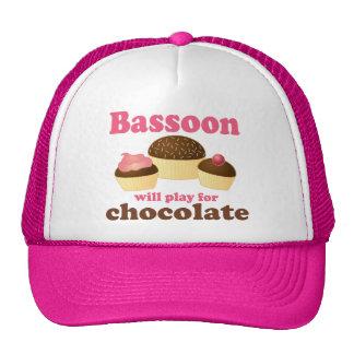 Regalo de la música del Bassoon del chocolate Gorros