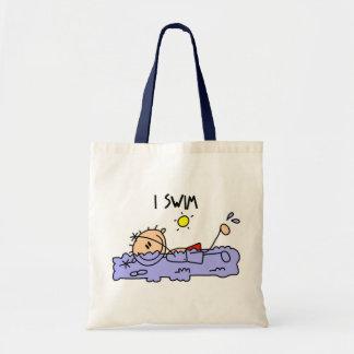 Regalo de la natación bolsa tela barata