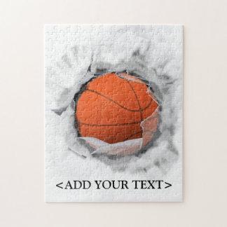 regalo de la novedad del baloncesto puzzles con fotos
