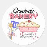 Regalo de la panadería de la abuela pegatinas redondas