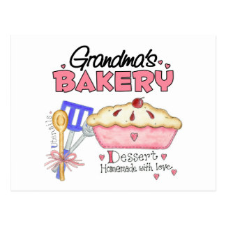 Regalo de la panadería de la abuela postal