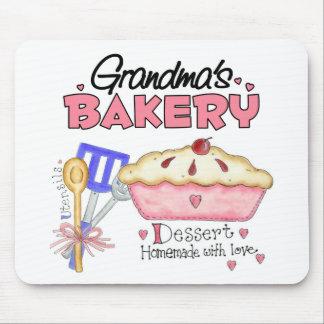 Regalo de la panadería de la abuela alfombrillas de ratón