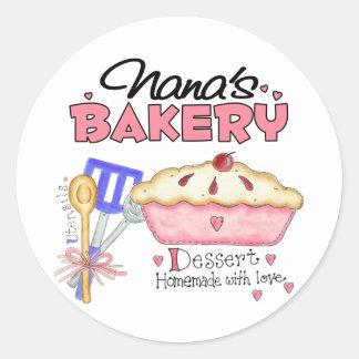 Regalo de la panadería de Nana Pegatinas Redondas